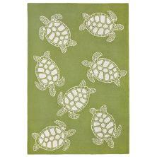 Liora Manne Capri Turtle Green 7'6″ x 9'6″ CAP71163416