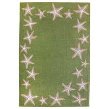 Liora Manne Capri Starfish Border Green 7'6″ x 9'6″ CAP71171006