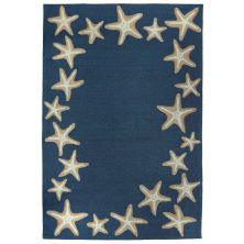 Liora Manne Capri Starfish Border Blue 7'6″ x 9'6″ CAP71171033