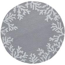 Liora Manne Capri Casual Silver 5'0″ x 5'0″ Round CAPD5162047
