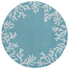 Liora Manne Capri Casual Blue 8'0″ x 8'0″ Round CAPD8162004