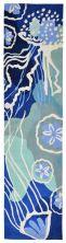 Liora Manne Capri Contemporary Blue 2'0″ x 8'0″ CAPR8166504