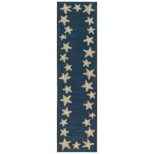 Liora Manne Capri Starfish Border Blue 2'0″ x 8'0″ CAPR8171033