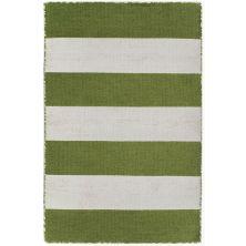 Liora Manne Sorrento Rugby Stripe Green 2'0″ x 3'0″ SRN23630206