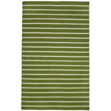 Liora Manne Sorrento Pinstripe Green 3'6″ x 5'6″ SRN46630506