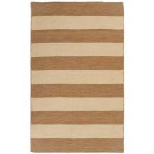 Liora Manne Sorrento Rugby Stripe Khaki 8'0″ x 8'0″ Square SRNS8630222