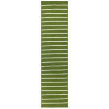 Liora Manne Sorrento Pinstripe Green 2'0″ x 8'0″ SRNR8630506