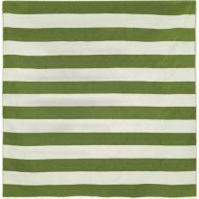 Liora Manne Sorrento Rugby Stripe Green 8'0″ x 8'0″ Square SRNS8630206