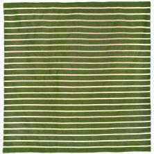 Liora Manne Sorrento Pinstripe Green 8'0″ x 8'0″ Square SRNS8630506