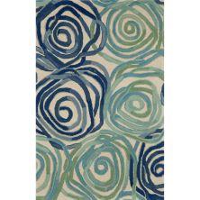 Liora Manne Tivoli Contemporary Blue 3'6″ x 5'6″ TIV46810622
