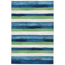 Liora Manne Visions II Contemporary Blue 2'0″ x 3'0″ VCF23431303