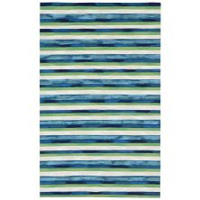 Liora Manne Visions II Contemporary Blue 5'0″ x 8'0″ VCF58431303