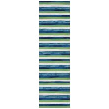 Liora Manne Visions II Contemporary Blue 2'3″ x 8'0″ VCFR8431303