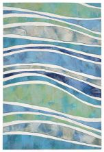 Liora Manne Visions III Contemporary Blue 2'0″ x 3'0″ VEB23312604