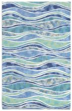 Liora Manne Visions III Contemporary Blue 5'0″ x 8'0″ VEB58312604