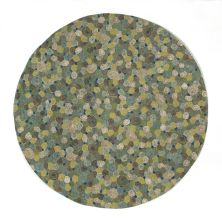 Liora Manne Visions III Contemporary Green 8'0″ x 8'0″ Round VEBD8310203