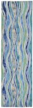 Liora Manne Visions III Contemporary Blue 2'3″ x 8'0″ VEBR8312604