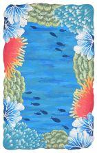 Liora Manne Visions Iv Casual Blue 8'0″ x 10'0″ VGH80413703