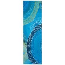 Liora Manne Visions Iv Contemporary Blue 2'3″ x 8'0″ VGHR8430204