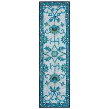 Liora Manne Visions Iv Transitioanl Blue 2'3″ x 8'0″ VGHR8430903