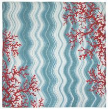 Liora Manne Visions Iv Casual Blue 8'0″ x 8'0″ Square VGHS8325503