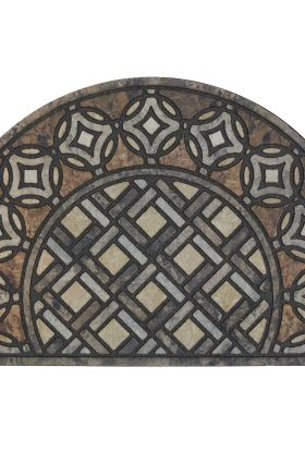 "Mohawk Doorscapes Estate Mat Deco Tile Slice Brown 1'11"" x 2'11"" Collection"
