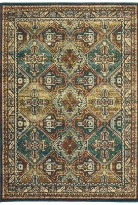 Oriental Weavers Dawson 8527a Teal Collection