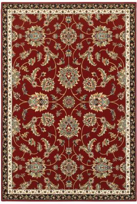 Oriental Weavers Kashan 370r Red Collection