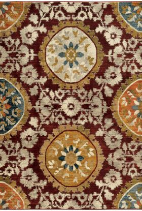 Oriental Weavers Sedona 6366a Red Collection