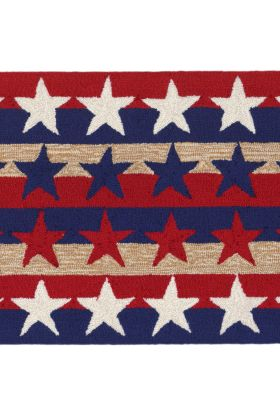Liora Manne Frontporch Stars & Stripes Red Collection