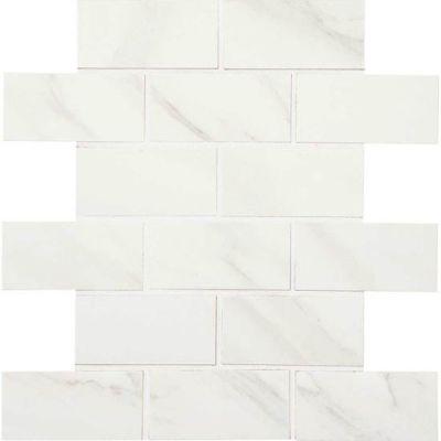 American Olean Mirasol Bianco Carrara 2 x 4 MosaicML70 ML7024SWTCH2
