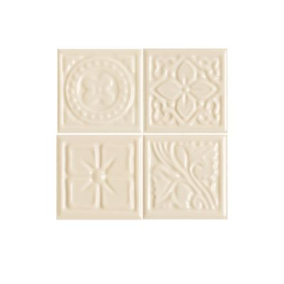 Daltile Fashion Accents 135 Almond Floret Insert 2″ x 2″ (set of 4) FA5222DOTSA1P