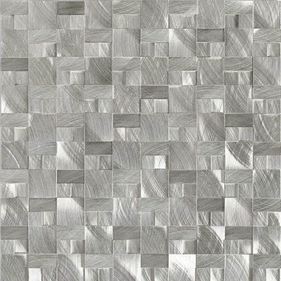 Daltile Structure Steel 1 X 1 3d Block Gray/Black ST7011HLMS1P