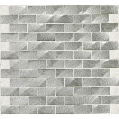 Daltile Structure Steel 1 X 2 Brickjoint Gray/Black ST7012BJMS1P