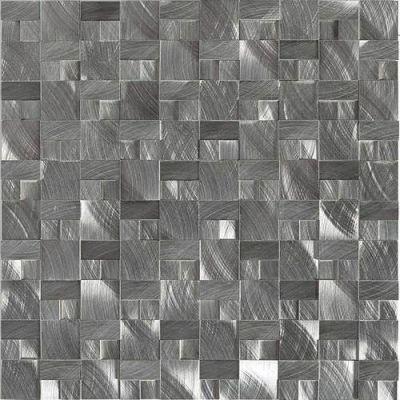 Daltile Structure Gunmetal 1 x 1 3D Block ST7211HLMS1P