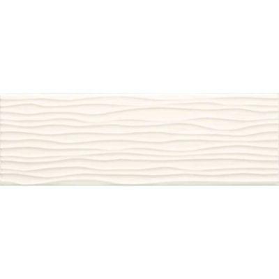 Daltile Modern Dimensions Arctic White4 1/4 X 12 3/4wave Tile White/Cream 0190412MODW1P2