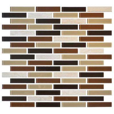 Daltile Mosaic Traditions Desert Dune 5/8 X 3 Brickjoint Mosaic Beige/Taupe BP94583BJMS1P