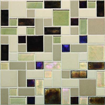 Daltile Coastal Keystones Sunset Cove Block Random Mosaic CK89BLRANDPM1P
