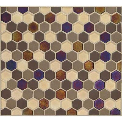 Daltile Coastal Keystones Treasure Island Hexagon Mosaic Brown CK901HEXSWTCHCD