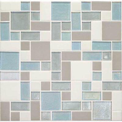 Daltile Coastal Keystones Mediterranean Mist Block Random Mosaic Beige/Taupe CK92BRSWATCHCD