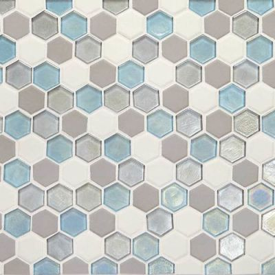 Daltile Coastal Keystones Mediterranean Mist Hexagon Mosaic CK921HEXSWTCHCD