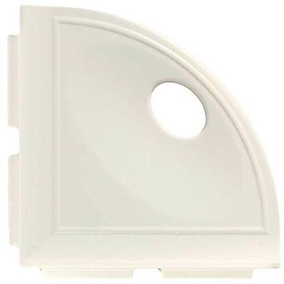 Daltile Bath Accessories White Gloss Corner Shelf with Flange CN10BA6701P