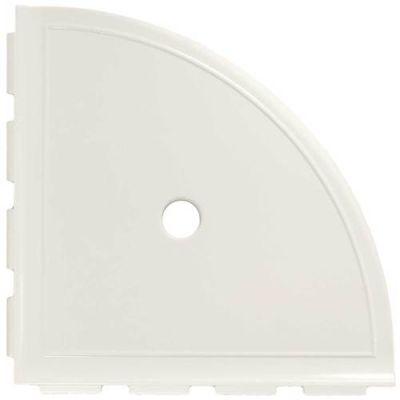 Daltile Bath Accessories White Gloss Large Corner Shelf with Flange CN10BA6801P