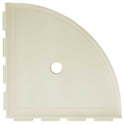 Daltile Bath Accessories Sand Large Corner Shelf with Flange CN11BA6801P