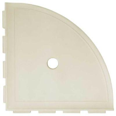 Daltile Bath Accessories Sand Large Corner Shelf With Flange Beige/Taupe CN11BA6801P