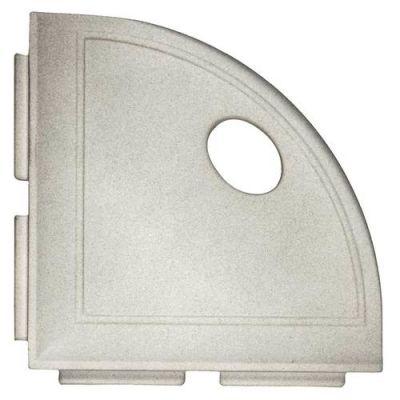 Daltile Bath Accessories Gray Corner Shelf with Flange CN13BA6701P