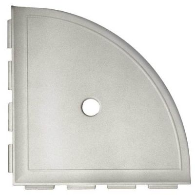Daltile Bath Accessories Gray Large Corner Shelf with Flange CN13BA6801P