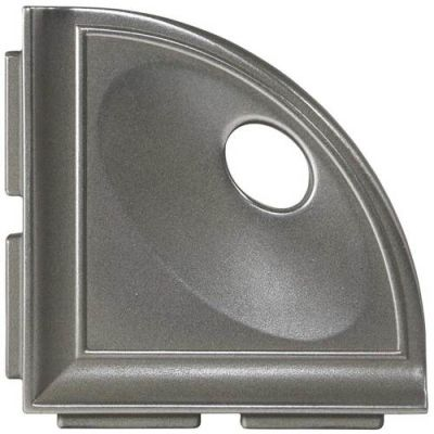 Daltile Bath Accessories Stainless Corner Shelf with Flange CN14BA6701P