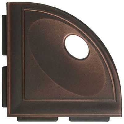Daltile Bath Accessories Oil Rubbed Bronze Corner Shelf with Flange CN15BA6701P