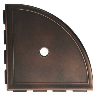 Daltile Bath Accessories Oil Rubbed Bronze Large Corner Shelf with Flange CN15BA6801P